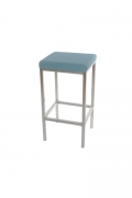 CUBE STOOL UPHOLSTERED W