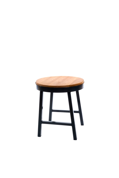 SMOKEHOUSE STOOL LOW HARDWOOD W
